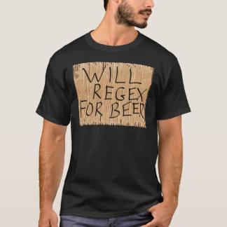 ZAL REGEX VOOR de Zwarte T-shirt van het BIER