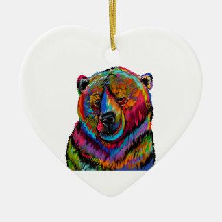 Zalig knipoog keramisch hart ornament