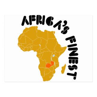 Zambiaans vlagontwerp briefkaart