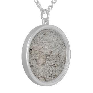 Zand Gekleurde Tegenhanger Zilver Vergulden Ketting