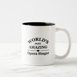Zanger van de Opera van de wereld de meest Tweekleurige Koffiemok