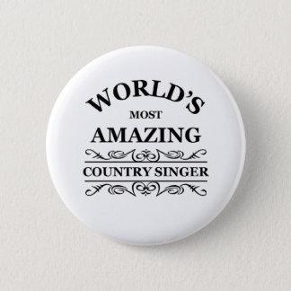 Zanger van het Land van de wereld de meest Ronde Button 5,7 Cm