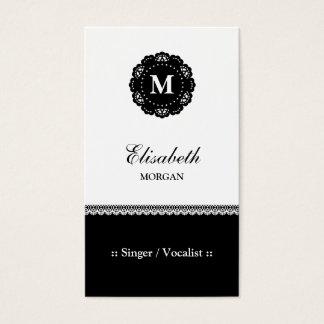 Zanger/Vocalist - het Elegante Zwarte Monogram van Visitekaartjes