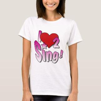 Zangers, houd ik van 2 zing t shirt