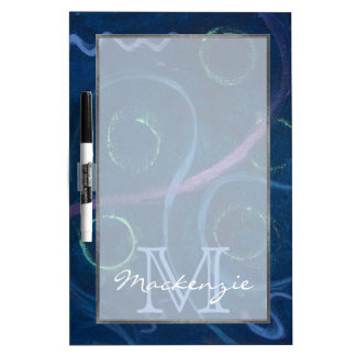 Zany Keuken | Blauw van het Gekrabbel van het Dry Erase Whiteboards
