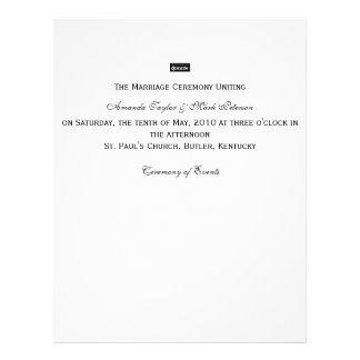 Zazzle, de Ceremonie Unitingon Saturda… Gepersonaliseerde Folder