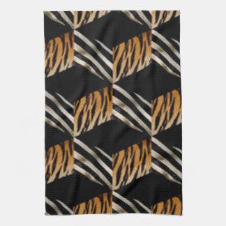 Zebra & de Handdoek van de Keuken van de Druk van
