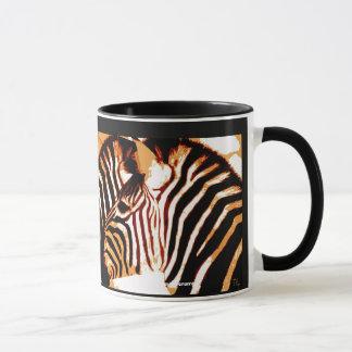 Zebra in liefde mok