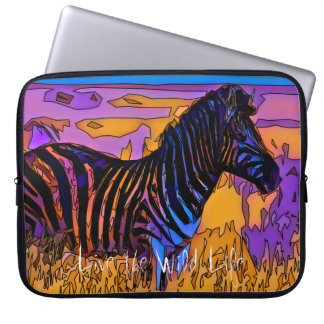 Zebra - leef het Wilde Sleeve van het Leven/Laptop