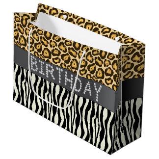 Zebra/LG van de Zak van de Gift van de Verjaardag Groot Cadeauzakje