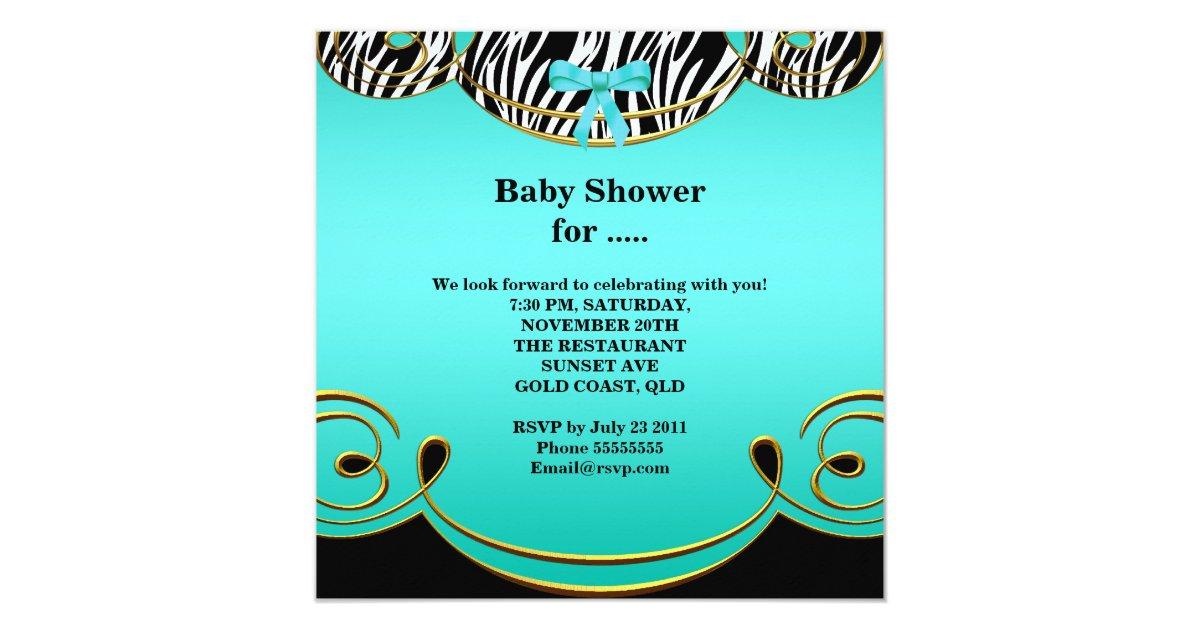 Zebra van het baby van de jongen van het baby 13 3x13 3 vierkante uitnodiging kaart zazzle - Turquoise ruimte van de jongen ...
