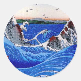 Zee, Hiroshige 歌川広重 Ronde Sticker