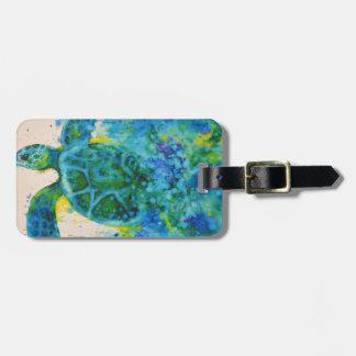 zee schildpad kofferlabel