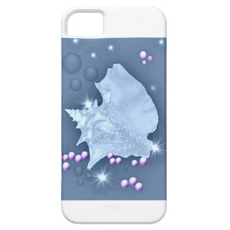 Zee Shell, Parel, grijs-blauw, roze Barely There iPhone 5 Hoesje