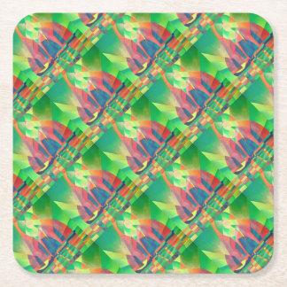 Zee van Groen met Kubiste Abstracte Troep Vierkante Onderzetter
