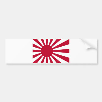 Zee Vlag van Japan - de Japanse het Toenemen Vlag Bumpersticker