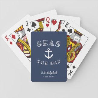 Zeeen Dag | Gepersonaliseerde Boot Speelkaarten