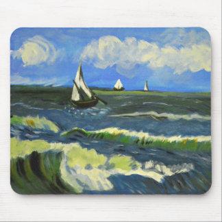 Zeegezicht in saintes-Maries, Van Gogh Muismat