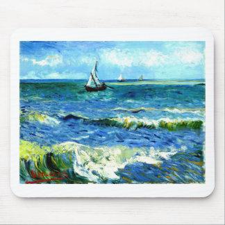 Zeegezicht in saintes-Maries, Vincent van Gogh Muismat