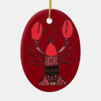 Zeekreeft Keramisch Ovaal Ornament