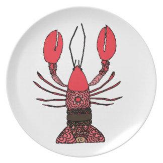 Zeekreeft Melamine+bord