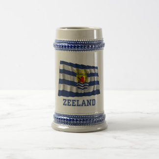 Zeeland Golvende Vlag met Naam Bierpul