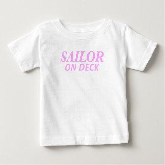 Zeeman op de Druk van het Dek Baby T Shirts