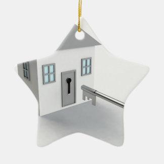 Zeer belangrijk Huis, Makelaar in onroerend goed, Keramisch Ster Ornament