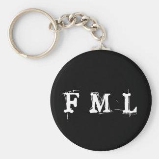 Zeer belangrijke Ketting FML Basic Ronde Button Sleutelhanger