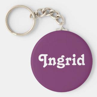 Zeer belangrijke Ketting Ingrid Basic Ronde Button Sleutelhanger