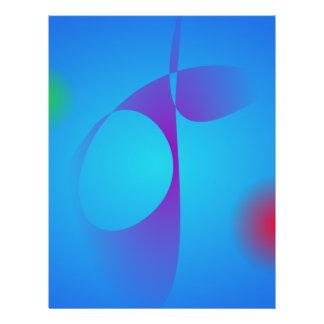 Zeer Eenvoudig Blauw Abstract Art Aqua Persoonlijke Folder