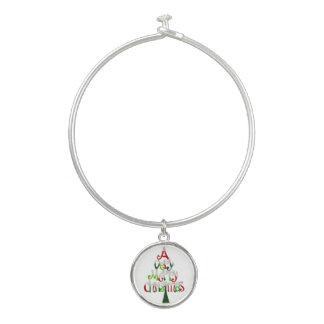 Zeer Vrolijke Kerstboom Bangle Armbandje