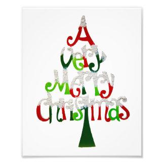 Zeer Vrolijke Kerstboom Foto Afdrukken