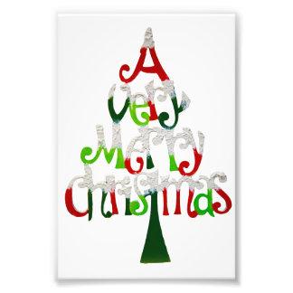 Zeer Vrolijke Kerstboom Foto Print