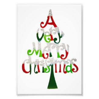 Zeer Vrolijke Kerstboom Fotografische Afdruk