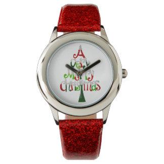 Zeer Vrolijke Kerstboom Horloges