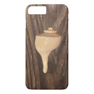 Zeeschelp op houten iPhone 7 plus nauwelijks daar iPhone 8/7 Plus Hoesje