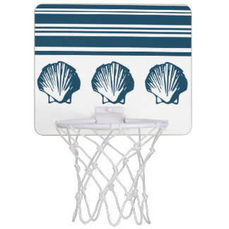 Zeeschelpen en strepen mini basketbalring