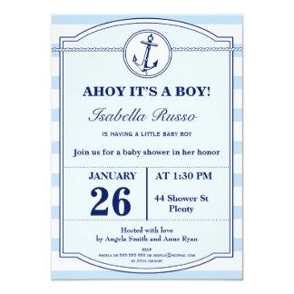 Zeevaart Ahoy het is een Uitnodiging van het Baby