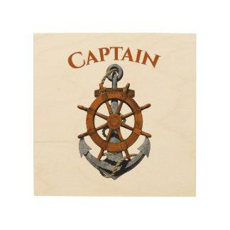 Zeevaart Anker en Kapitein Hout Afdruk
