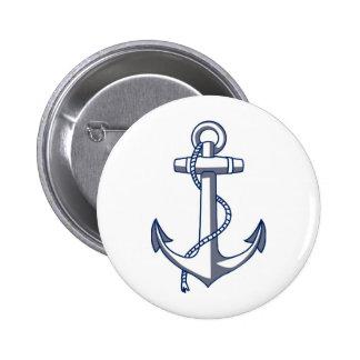 Zeevaart Anker Ronde Button 5,7 Cm