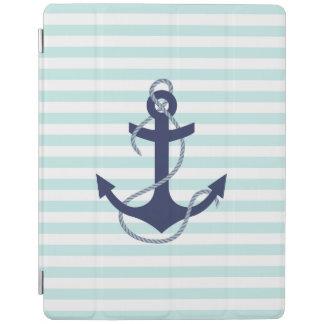 Zeevaart Aqua & het Witte Marineblauwe Anker van iPad Cover
