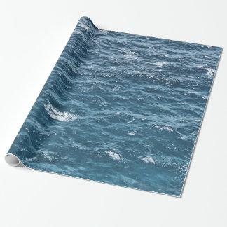 Zeevaart Blauw OceaanWater Inpakpapier