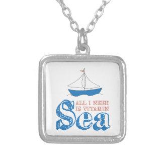 Zeevaart Citaat Zilver Vergulden Ketting