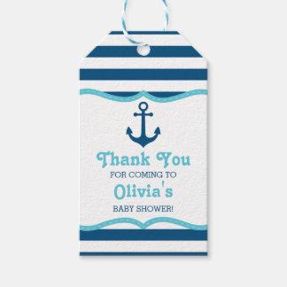 Zeevaart dank u etiketteren, verankeren cadeaulabel