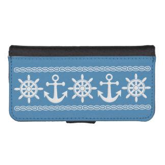 Zeevaart de portefeuillehoesjes van de douanekleur iPhone 5 portemonnee hoesje