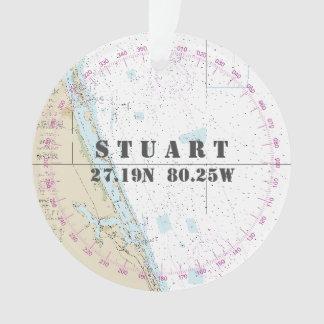 Zeevaart Foto 2-opgeruimde Stuart FL Herdenkings Ornament