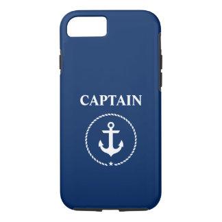 Zeevaart Kapitein Anchor Marineblauw Rope iPhone 8/7 Hoesje