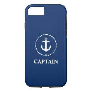 Zeevaart Kapitein Marineblauw Anchor iPhone 8/7 Hoesje