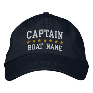 Zeevaart Kapitein Your Boat Name Cap Bl Geborduurde Pet